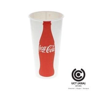 แก้วกระดาษใช้แล้วทิ้งตรา Coca Cola
