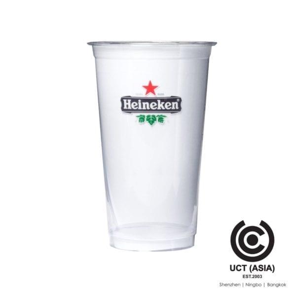 แก้วพลาสติกใช้แล้วทิ้งตรา Heineken