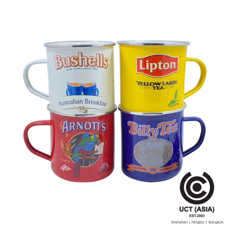 Lipton Customized Branded Enamel Mugs