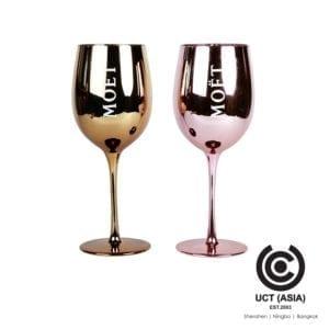 Moet Branded Promotion Metallic Wine Glass