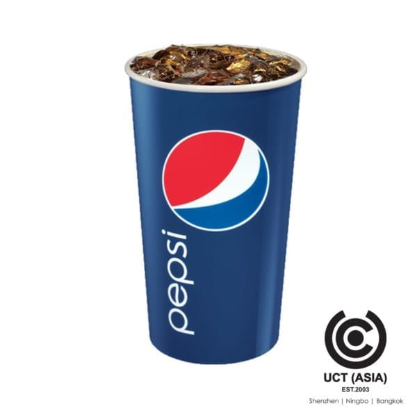 Pepsi Cola Branded Paper Disposable Glass