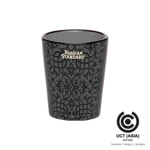 Russian Standard Promotional Branded Ceramic Shot Glass