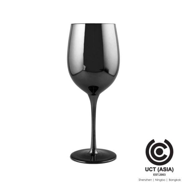 รับแก้วไวน์เมทัลลิกสีเทาเป็นสินค้าโปรโมชั่น