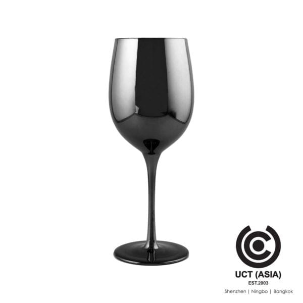 Source Grey Metallic Wine Glass as promotional item
