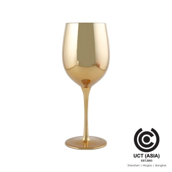Sourcing of Gold Metallic Wine Glass for promotions