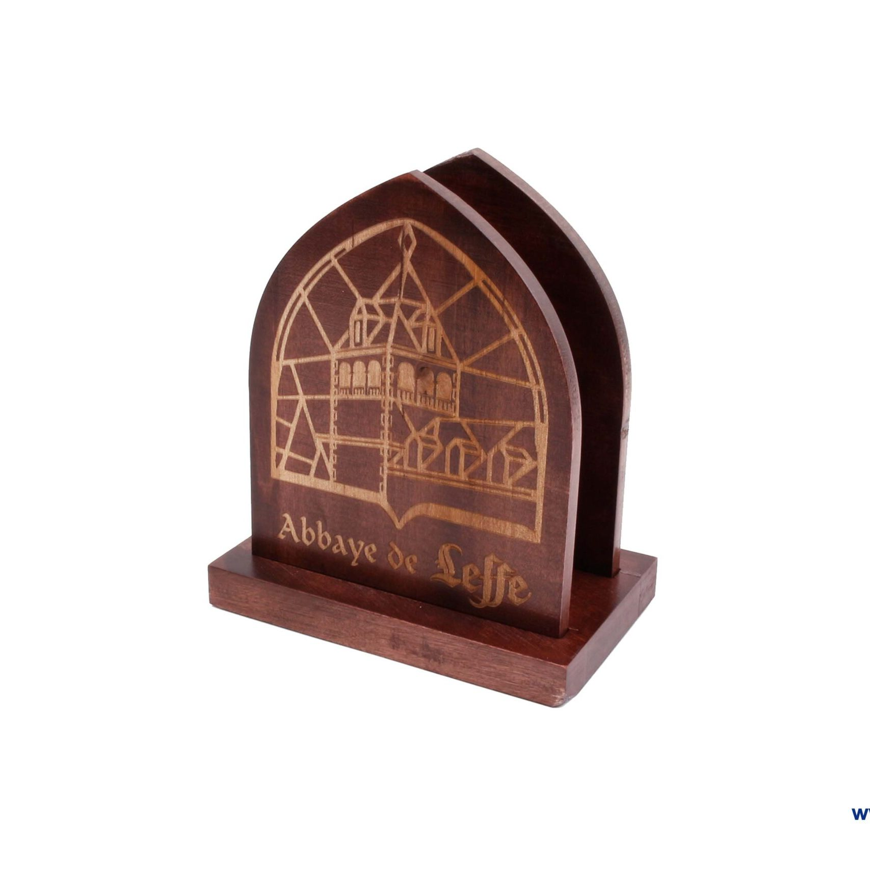 Wooden table napkin holder