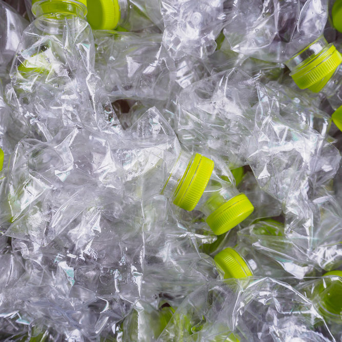 plastic-bottles-recycle-background-concept
